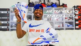 congelador Arashigaoka Nota  Nike Air Trainer SC High Reverse Auburn Review!!! Bo Jackson - YouTube