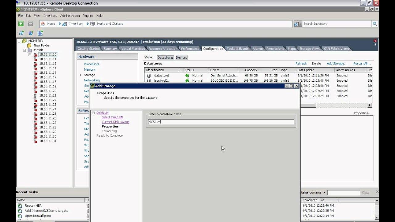 How to add iSCSI storage to ESX server - Part 2