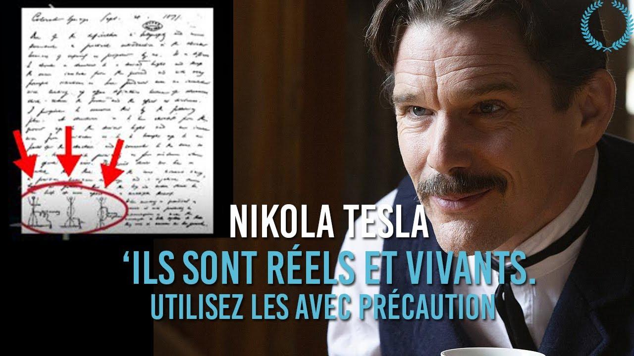 """Des Millions L'utiliseront! NIKOLA TESLA """"Ils Sont Réels Et Vivants. Utilisez-les Avec Précaution!"""""""