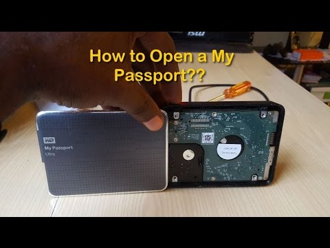 How to disassemble a Western Digital My Passport external Hard drive easily