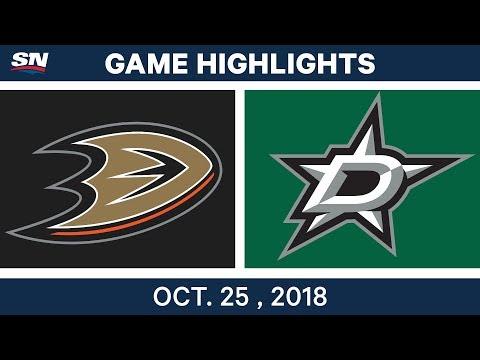 NHL Highlights | Ducks vs. Stars - Oct. 25, 2018