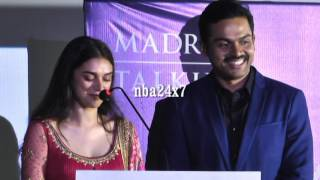 My Dream has come true because of Manirathnam : Aditi Rao Hydari  | Kaatru Veliyidai Audio Launch |