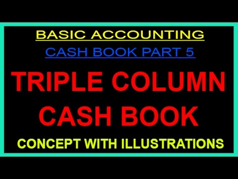 TRIPLE COLUMN CASH BOOK - CONCEPT WITH ILLUSTRATION [HINDI]