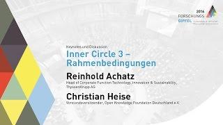Forschungsgipfel 2016: Inner Circle 3 – Rahmenbedingungen