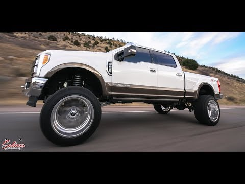 2020 F250 King Ranch lifted 8 inches with 24x14 Fuel ...