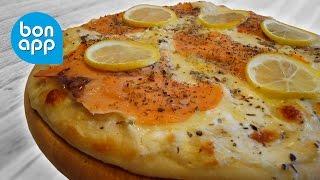 Пицца с моцареллой и лососем (рецепт)
