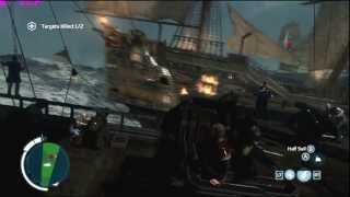 Assassin's Creed 3 on GTX 680M || Naval Battle Gameplay || 1080p Very High Settings