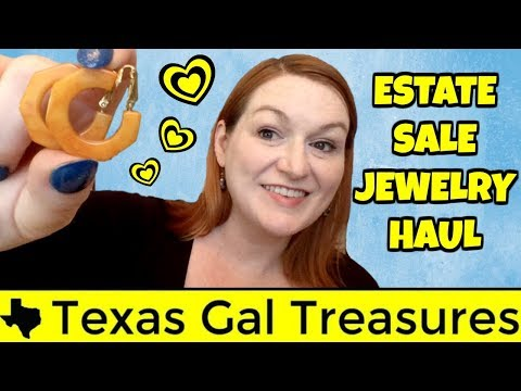 Estate Sale Jewelry Haul & THRIFTY KARMA STORY -Garage Sale Haul to Sell on Ebay & Etsy