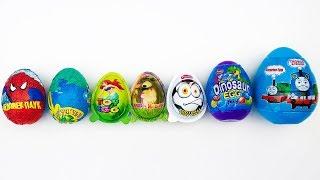 7 Surprise Eggs, Toy Egg, Spiderman Egg, Masha and The Bear Egg, Football Toy Egg Video For Kids