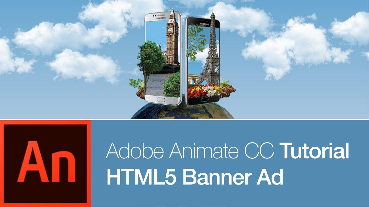 animate cc tutorial: banner ad youtube