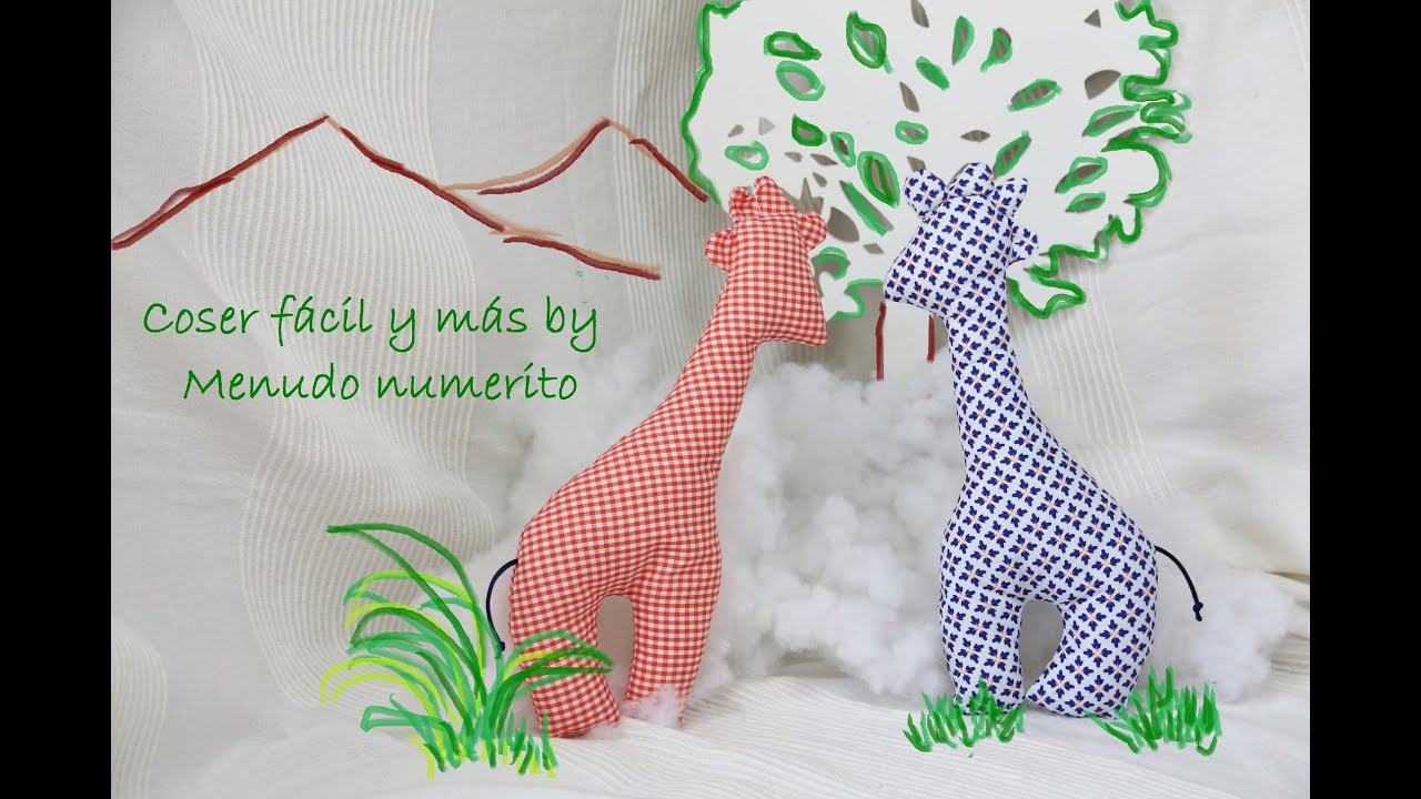 C mo hacer una jirafa de trapo youtube - Como hacer un cabecero de tela ...