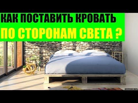 Как правильно поставить кровать по сторонам света?
