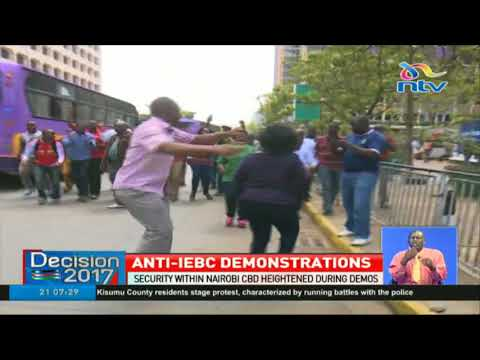 Security within Nairobi CBD hightened during NASA demos
