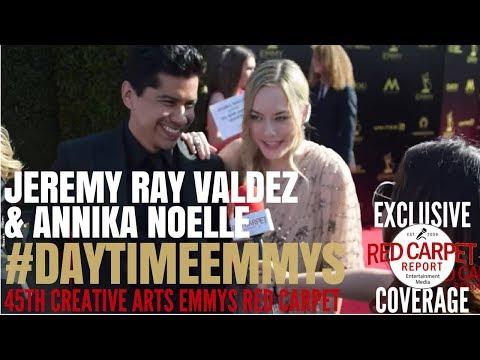 Jeremy Ray Valdez & Annika Noelle BandB  at 45th CreativeArtsEmmys DaytimeEmmys