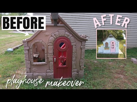 DIY Playhouse Makeover   BEFORE And AFTER   Fixer Upper