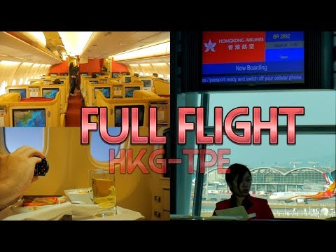 Full Flight Business Class Review Hong Kong Airlines HX282 to Taipei