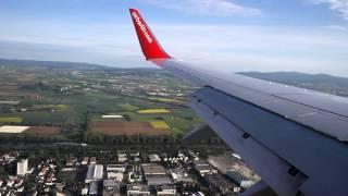 Landung Air Berlin Boeing D-ABMJ Flughafen Frankfurt + taxi
