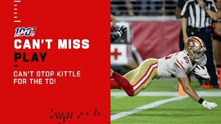 Kittle Bulldozes into the End Zone for a TD