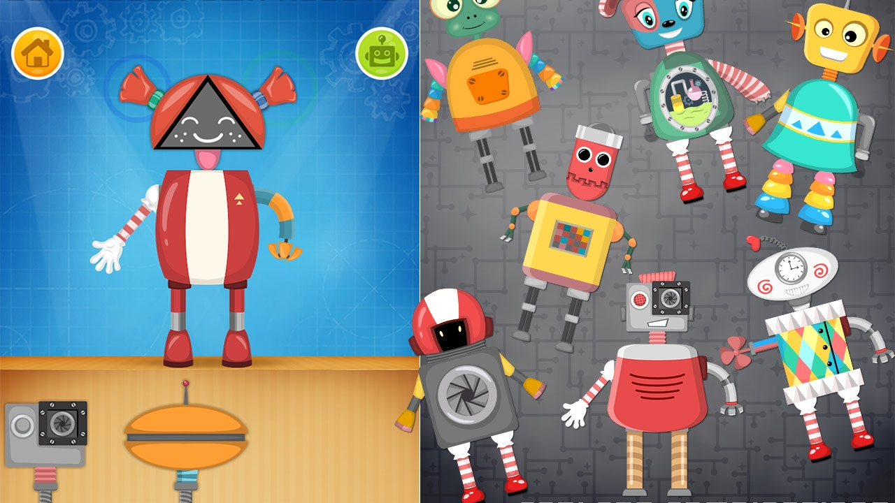 Robot game for preschool kids - YouTube