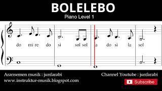 not balok bolelebo - piano level 1 - lagu daerah - solmisasi / doremi
