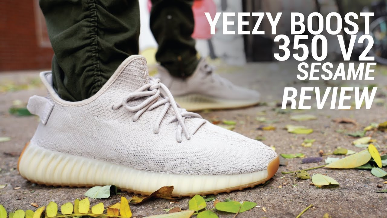2d80592d52432 Adidas Yeezy Boost 350 V2 Sesame Review   On Feet - YouTube