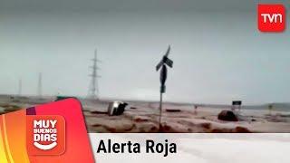 Alerta Roja en el norte: Intensas lluvias dejan inundaciones y cortes de caminos | Muy buenos días