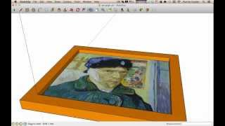 SketchUp - framing a picture