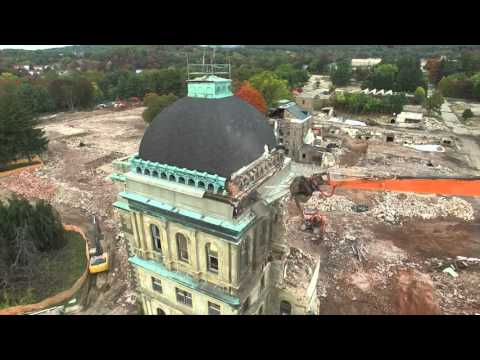 Greystone Park Psychiatric Hospital rises in drone video