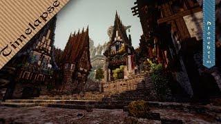 {Stonehelm} Construction d'une ville Médiévale sur Minecraft | Timelapse & maison médiévale