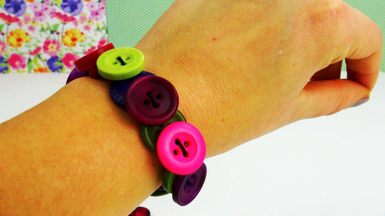 diy knopf armband armband aus kn pfen schnell gemacht button bracelet tutorial deutsch. Black Bedroom Furniture Sets. Home Design Ideas