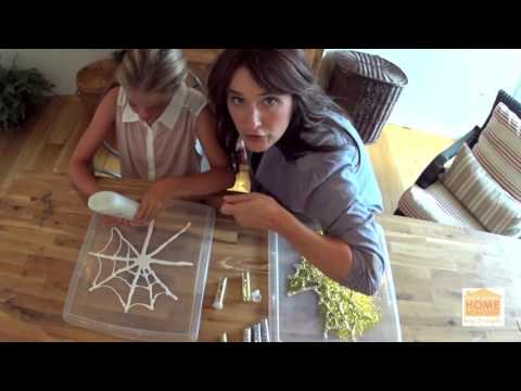 DIY Glue Spider Webs
