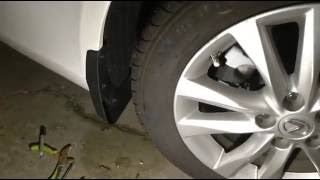 Video How to install mud flaps and mud guards on lexus download MP3, 3GP, MP4, WEBM, AVI, FLV April 2018