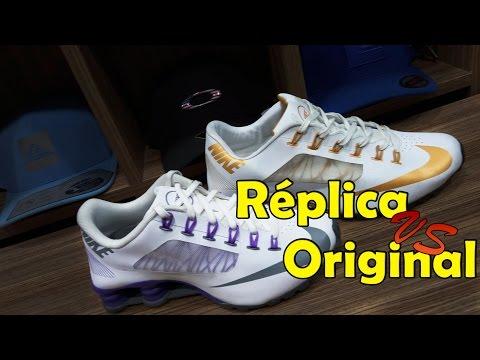 new arrival 938b0 81838 NIKE SHOX R4 RÉPLICA VS ORIGINAL - YouTube