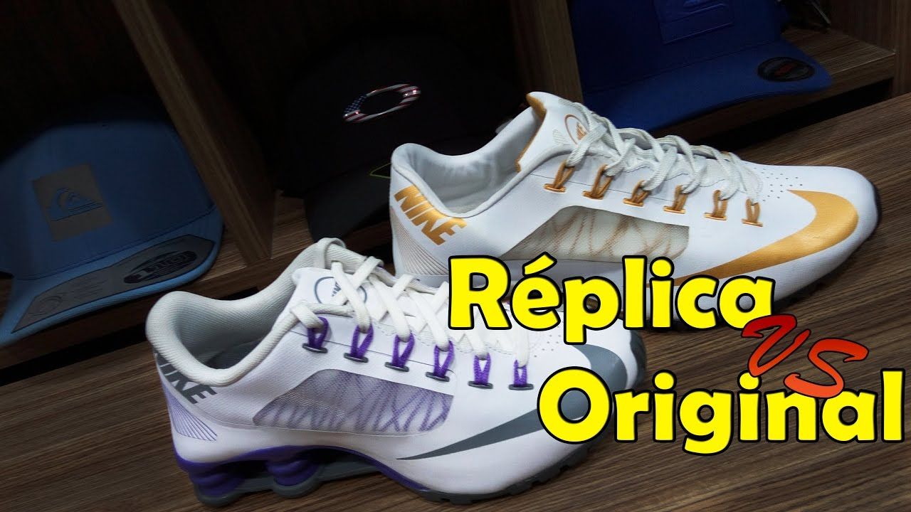 various colors 419d3 6d3e1 ... NIKE SHOX R4 RÉPLICA VS ORIGINAL . ...