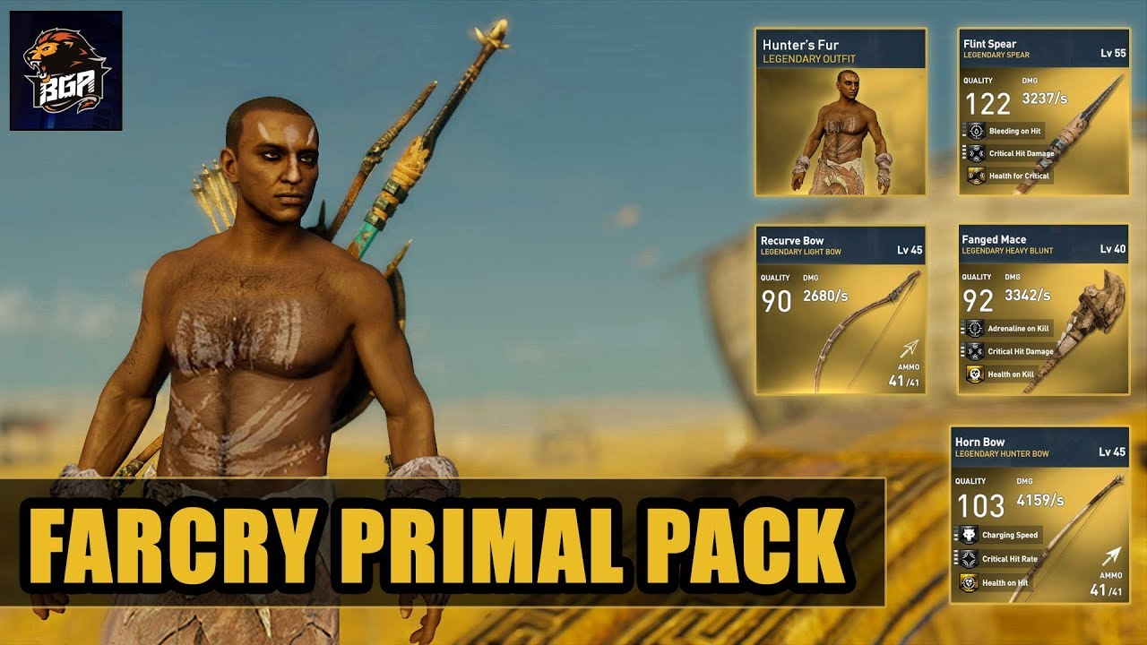 Assassin S Creed Origins Far Cry Primal Pack Available In Heka Chest Glitched Game 2018 Youtube