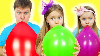Learn colors with Balloons ! Kids and daddy have fun playtime with color song ! Milli family sHOW