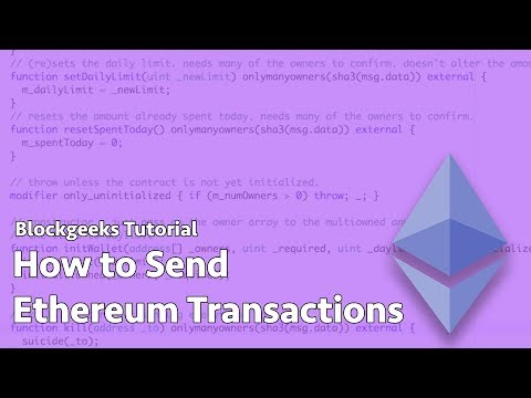 How To Send Ethereum Transactions
