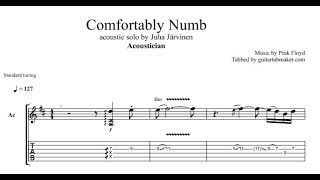 """Pink floyd - comfortably numb guitar solo tab in prothis follows the acoustic cover played by """"acoustician"""" standard tuningsounds cool?give..."""