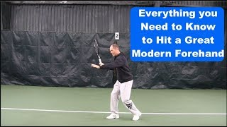 Tennis Lesson - The Key Technical Element of the Modern Topspin Forehand
