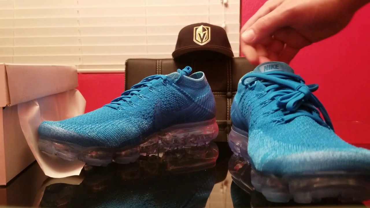 642442d5aa71d Nike Air VAPORMAX Blue Orbit review on feet - YouTube