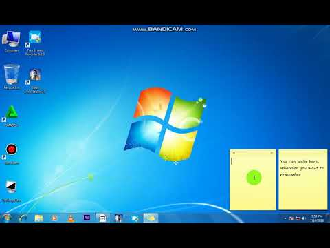 How To Use Sticky Notes In Windows 7