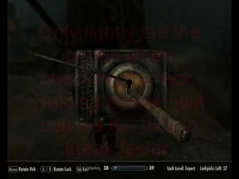 How to lockpick a master lock in skyrim
