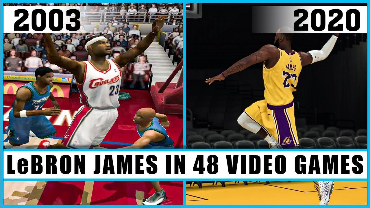 LeBRON JAMES evolution in 48 video games