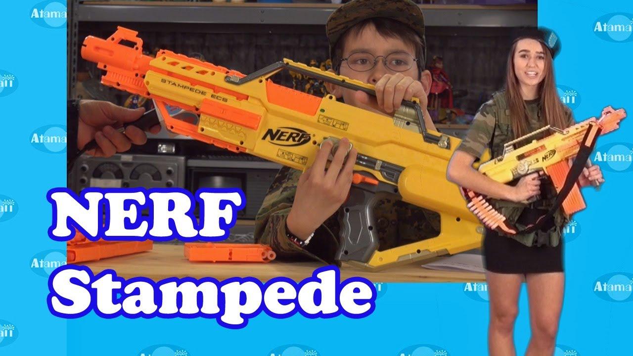 Nerf Stampede Ecs Gun Review Unboxing Youtube