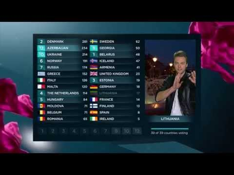 BBC - Eurovision 2013 final - full voting & winning Denmark
