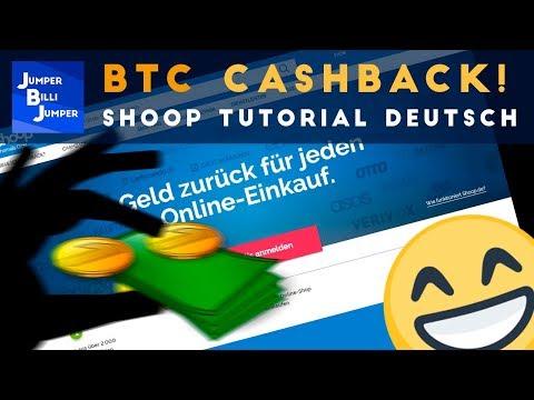Bitcoin für jeden Einkauf zurück - Shoop deutsch