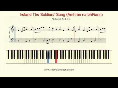 Ireland The Soldiers' Song Amhrán na bhFiann  Irish Gaeilge National Anthem