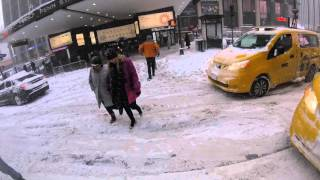 Walk in New York City during Jan 23 '16 Blizzard