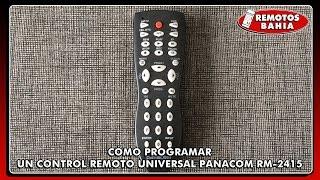 CÓMO PROGRAMAR CONFIGURAR UN CONTROL REMOTO UNIVERSAL PANACOM RM-2415