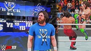 "WWE 2K19: Daniel Bryan Updated Attire & New Blue ""Yes is Back"" Trons GFX! (PC Mods) ft. AJ Styles"